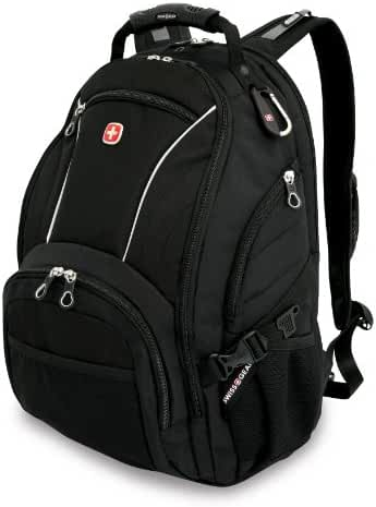 SwissGear SA3181 Black Computer Backpack - Fits Most 15 Inch Laptops and Tablets