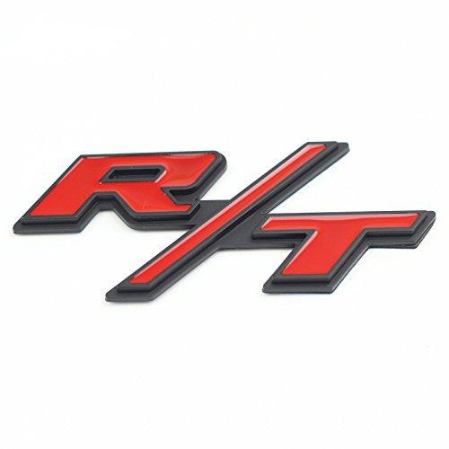 Btopars Red With Black R T Rt Side Fender Trunk Hatch Emblem Badge Sticker For Dodge Challenger Charger Ram Avenge