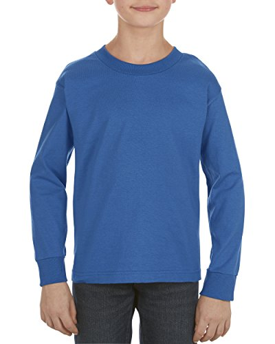 (Alstyle Apparel AAA Big Kids' Youth Classic Long Sleeve T-Shirt, Royal Blue, Small)