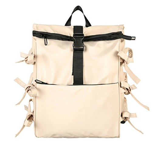 ChangNing - Bolso mochila de algodón para mujer Beige