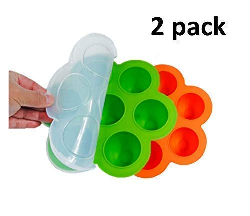 Circle Silicone Egg Bites Molds 2 Pack. Instant Pot Accessories.