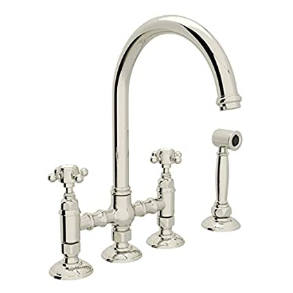 ROHL A1461XMWSPN-2 KITCHEN FAUCETS 4.75 x 17.00 x 11.00 inches Polished  Nickel