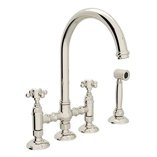 (ROHL A1461XMWSPN-2 KITCHEN FAUCETS 4.75 x 17.00 x 11.00 inches Polished Nickel)
