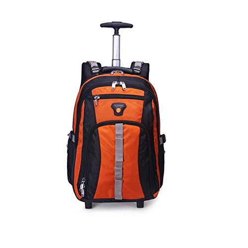 2 approvazione orange valigia Ryanair Airways zaino aste Virgin British multifunzione ultra con Comfortablely Wheel Atlantic leggero nbsp;Silent borsa Easyjet spalle portatile zpRxWqT