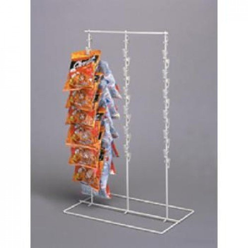 Retail Triple Strip 39 Clips Chips, Candy & Snack Counter Display Rack Almond by Counter Display