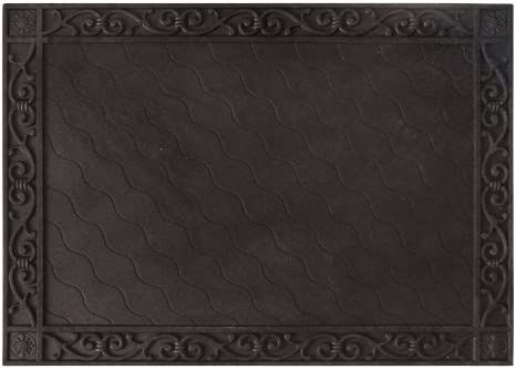 Cypress 2DMF004B Scroll Embossed Floor Mat Tray, Multi