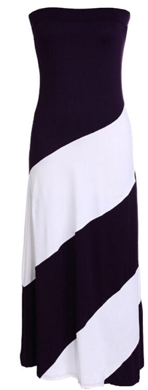 GAGA Womens Elegant Fashion Sexy Chest Wrapped Slim Dress