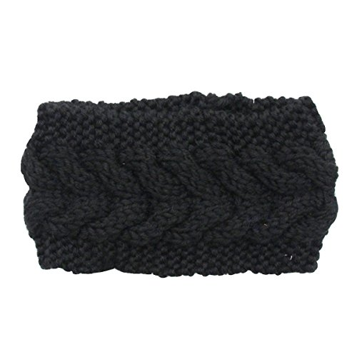 Evaliana Winter Crochet Headband Braided Twist Hairband Yarn Ear Warmer Headwrap (Braided Headwrap)