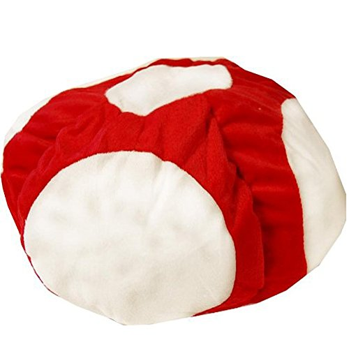 Winterworm® Super Mario Mushroom Brothers Head Cap Hat 18cm/7.2″ Cosplay Red