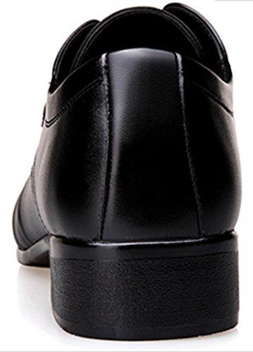 black los con zapatos negocios de zapatos cuero casual zapatos banquete británicos de de de Hombres de de HYLM zapatos hombres los cuero hombres apuntó wq0TgSHS
