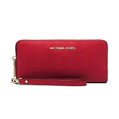 Michael Kors Mercer Zip Around Travel Continental Leather Wallet
