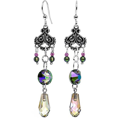 Body Candy Handcrafted Silver Plated Victorian Vibrance Earrings Created