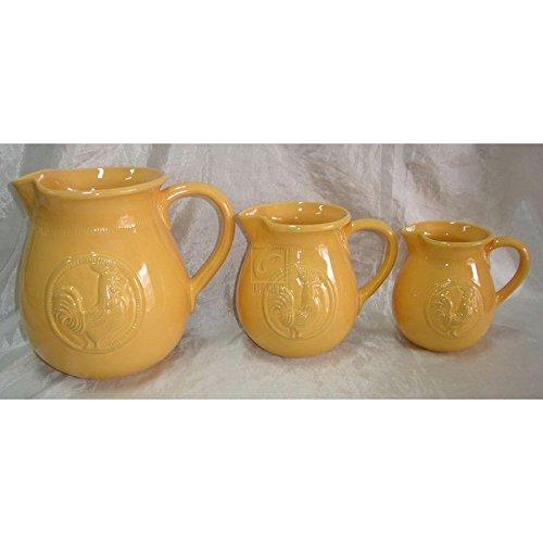 Medium Ceramic Pitcher - Home Essentials Ceramic Med Rooster Can Yellow Medium Pitcher