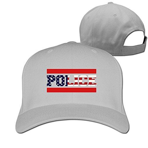 [IYaYa New Fashion Police US Adjustable Peaked Cap Hats] (Cheap Police Hats)