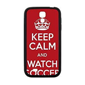 Keep Calm And Watch Soccer Fahionable And Popular High Quality Back Case Cover For Samsung Galaxy S4