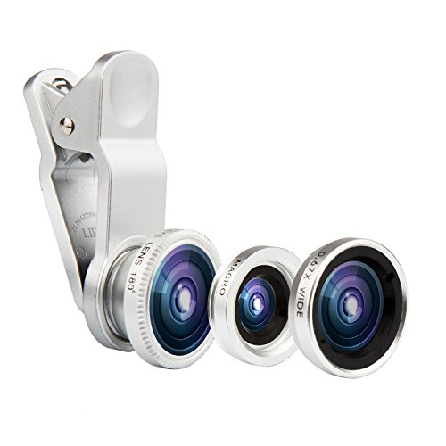 3 in 1 Macro/Fish-eye/Wide Universal Clip Lens (Silver) - 4