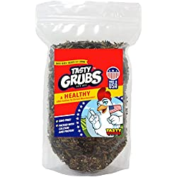 8oz Tasty Grubs Dried Black Soldier Fly Larvae Bag Made in USA