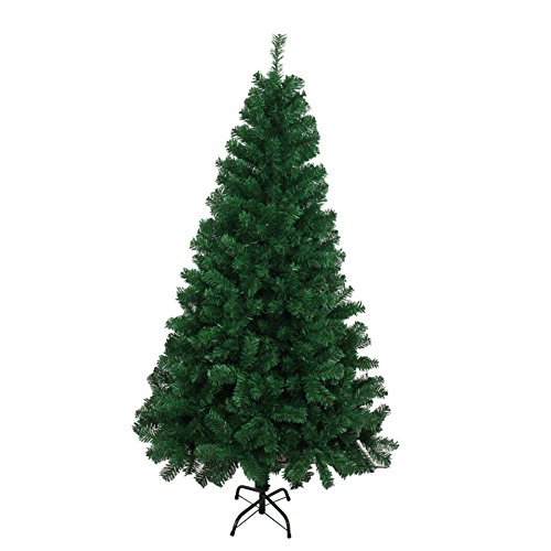 Aimeart Eco-Friendly Deluxe Artifical Christmas Spruce Pine Tree with 600 Tips Full Tree and Mental Legs, W/Stand, 6ft