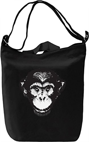 Splash Monkey Borsa Giornaliera Canvas Canvas Day Bag| 100% Premium Cotton Canvas| DTG Printing|