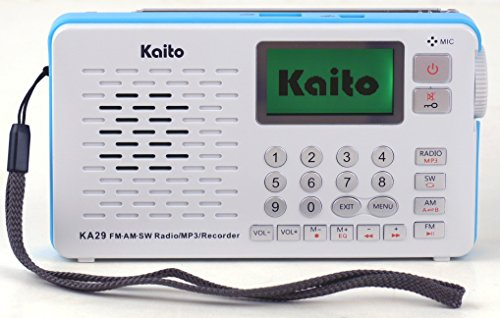 Kaito KA29 All in one world Receiver, with Recorder,AM FM SW Radio with MP3 Player (white)