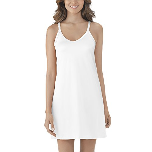 (Vanity Fair Women's Spinslip 10158, Star White, Size 38, 18 Inch)