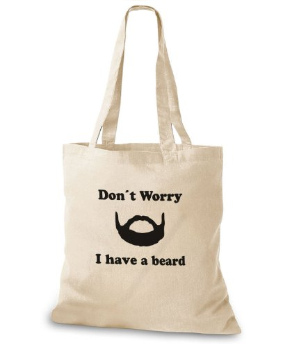 StyloBags Jutebeutel / Tasche Dont worry I have a beard Natur