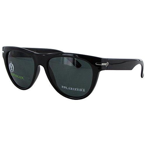 Electric Visual Women's Arcolux Polarized Round Sunglasses,Gloss Black Frame/Grey PC Polar Lens,One - Visual Sunglasses Electric
