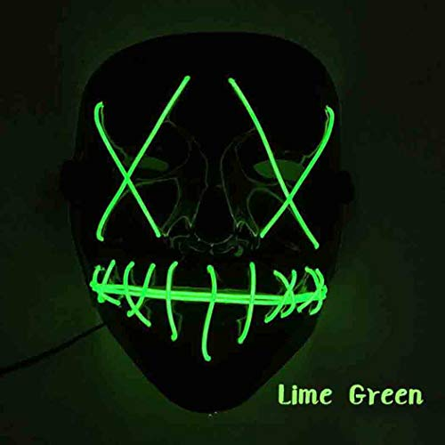 ThinIce Frightening Halloween Cosplay LED Light up Mask for Festival Party Halloween Costumes -