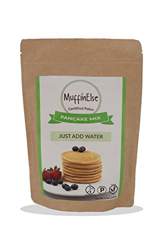 MuffinElse Paleo Pancake & Waffle Mix – Certified Paleo Pancake Mix – Dairy Free, Grain Free, Gluten Free, No Sugar Added, No Preservatives, Non-GMO – Just Add Water Fluffy Pancakes & Waffles Mix by MuffinElse