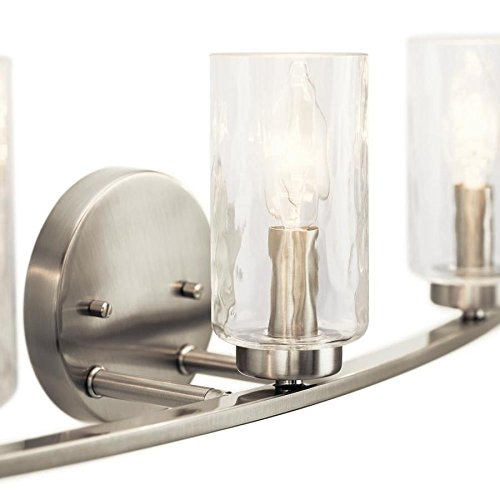 Kichler Marita 3-Light 22-in Brushed Nickel Cylinder Vanity Light by KICHLER (Image #1)