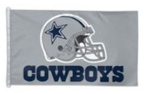 Wincraft NFL 3' X 5' Helmet Design Premium Flag with D-Rings (3' X 5', Dallas Cowboys)