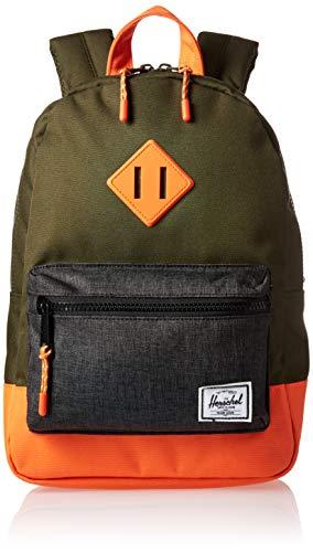 Herschel Heritage Kids Children's Backpack Forest Night/Black Crosshatch/Vermillion Orange One Size