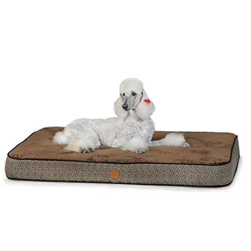 - K&H Pet Products Superior Orthopedic Pet Bed Large Mocha Paw/Bone Print 40