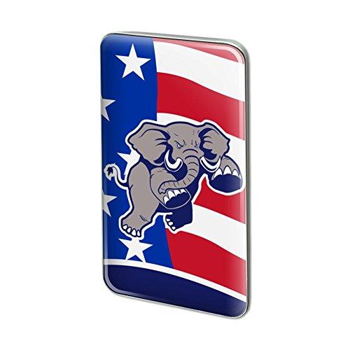 GRAPHICS & MORE Angry Republican Elephant Politics GOP Rectangle Lapel Pin Tie Tack