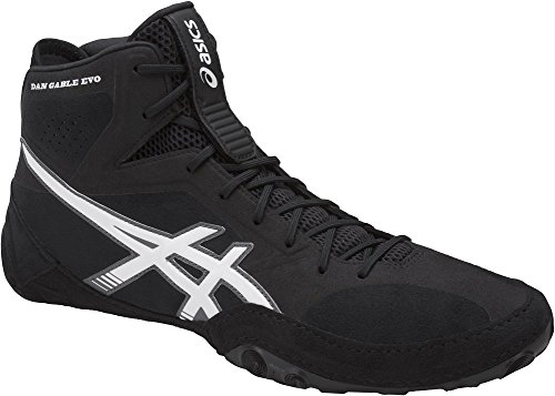 ASICS Men's Dan Gable Evo Wrestling Shoe, Black/White/Carbon, 13 Medium US