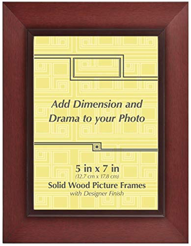 (Old Town 5x7 Wood Frame, 4-Pack - New Zealand Pine and Malaysian Durian for a Gallery Ready Presentation (Wide molding) (Walnut)