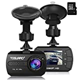 "Cheap Dash Cam – TOGUARD Mini Dash Camera for Cars HD 1080P Wide Angle 1.5"" LCD with G-Sensor Loop Recording Motion Detection Night Vision(32GB Card Included)"