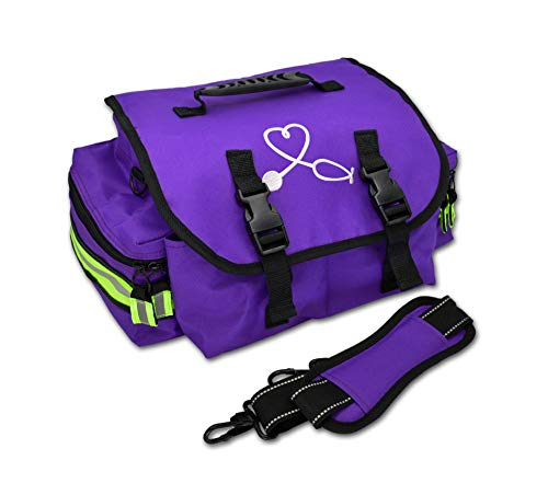 Lightning X Small EMT Nurse/Midwife First Responder Trauma EMS Jump Bag w/Dividers (Purple)