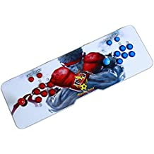 Easyget LED Illuminated Arcade Game Console 815 in 1 Pandora's Box 4S Plus Slim Metal Double Stick Console Support HDMI VGA and USB Output Support TV Set, Monitor, Projector, PC/Laptop & PS3