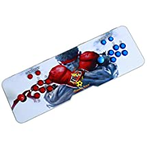 Easyget LED Illuminated Arcade Game Console 680 in 1 Pandora's Box 4S Slim Metal Double Stick Console Support HDMI VGA and USB Output Support TV Set, Monitor, Projector, PC/Laptop & PS3