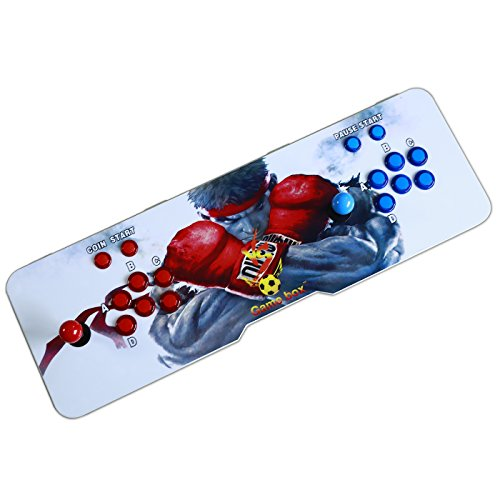Easyget Led Illuminated Arcade Game Console 680 In 1 Pandora's Box 4s Slim Metal Double Stick Consol