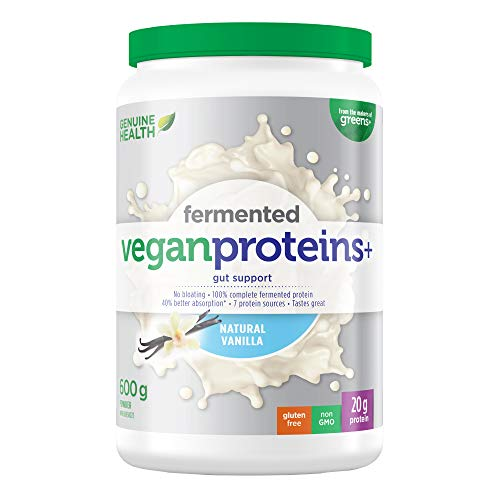 Genuine Health Fermented Vegan Proteins+ (Vanilla - 600 Gr)