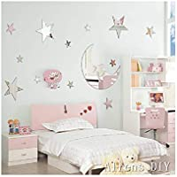 1 pcs Moon+ 12 Pcs Twinkle Stars DIY Mirror Effect...