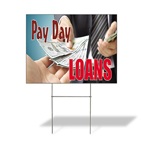 Plastic Weatherproof Yard Sign Pay Day Loans #1 Style A Dollars Loans Orange Pay Day Loans for Sale Sign Multiple Quantities Available 18inx12in One Side Print One Sign