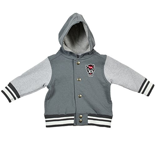NCAA North Carolina State Wolfpack Children Unisex Infant Letterman Jacket, 6 Months, Pewter/Oxford ()