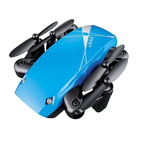 Tiean S9 RC Pocket Drone ,Helicopter Radio Remote Control Aircraft Foldable RC Quadcopter (Blue) by Tiean