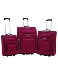 Delsey Helium Quantum Luggage 3 Piece Set - Burgundy Color