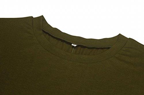 Abito Sleee Donne Verde Spalla Camicia Militare Lungo Jaycargogo Mini Fredda w0vIqw4