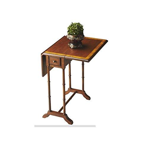 Butler specality company BUTLER 2334101 DARROW OLIVE ASH BURL DROP-LEAF TABLE (Burl Ash Desk)