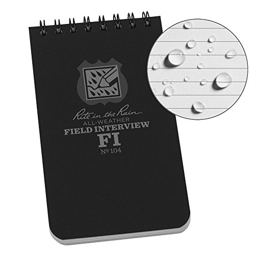 Rite In The Rain Weatherproof Field Interview Notebook, 3